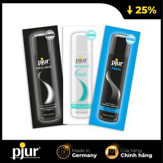 Combo 3 gel bôi trơn pjur ORIGINAL1.5ml & pjur WOMAN NUDE 2ml & pjur AQUA 2ml thumbnail
