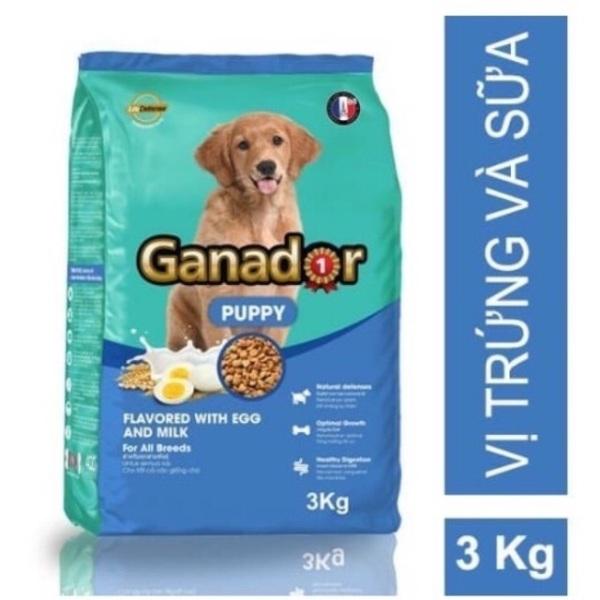 Thức ăn cho chó con vị Trứng và Sữa Ganador Puppy Egg and Milk 3kg