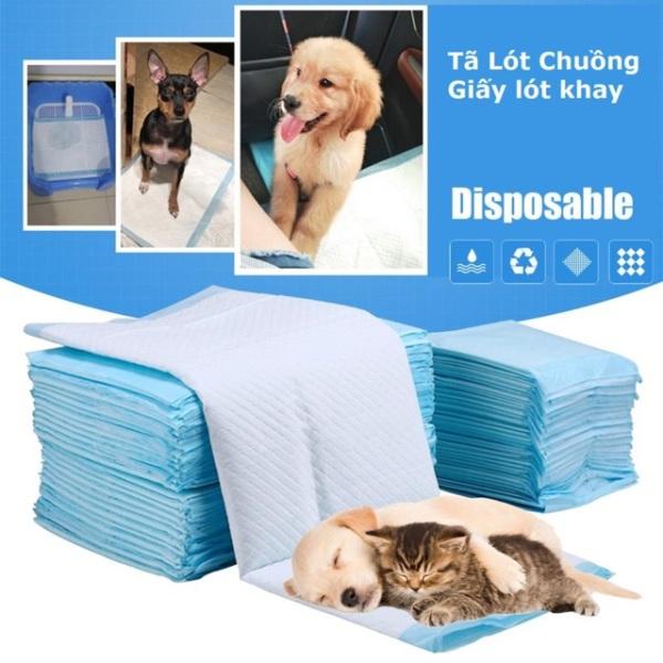 Miếng tã lót khay vệ sinh chó / tã lót chuồng chó / giấy lót chuồng chó mèo/ lót sàn xe/ giấy vệ sinh chuột Hamster (loại dày 1,4kg/bịch)