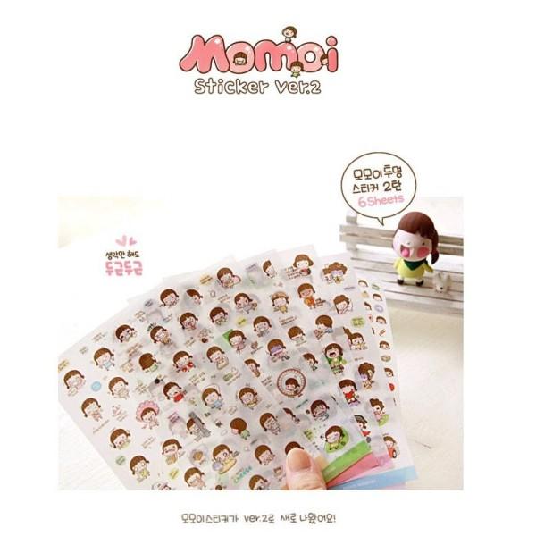Mua Sticker - 06 Tờ stickers dán hình Bé Moimoi Hàn Quốc xinh xắn dễ thương trang trí sổ tay Planner, nhật ký, thiệp [ST6T-05]