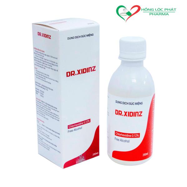 Nước súc miệng và sát trùng họng DR-XIDINZ (250 ml) với Chlorhexidine 0.12% cho hơi thở thơm mát , ngăn ngừa vi khuẩn giá rẻ