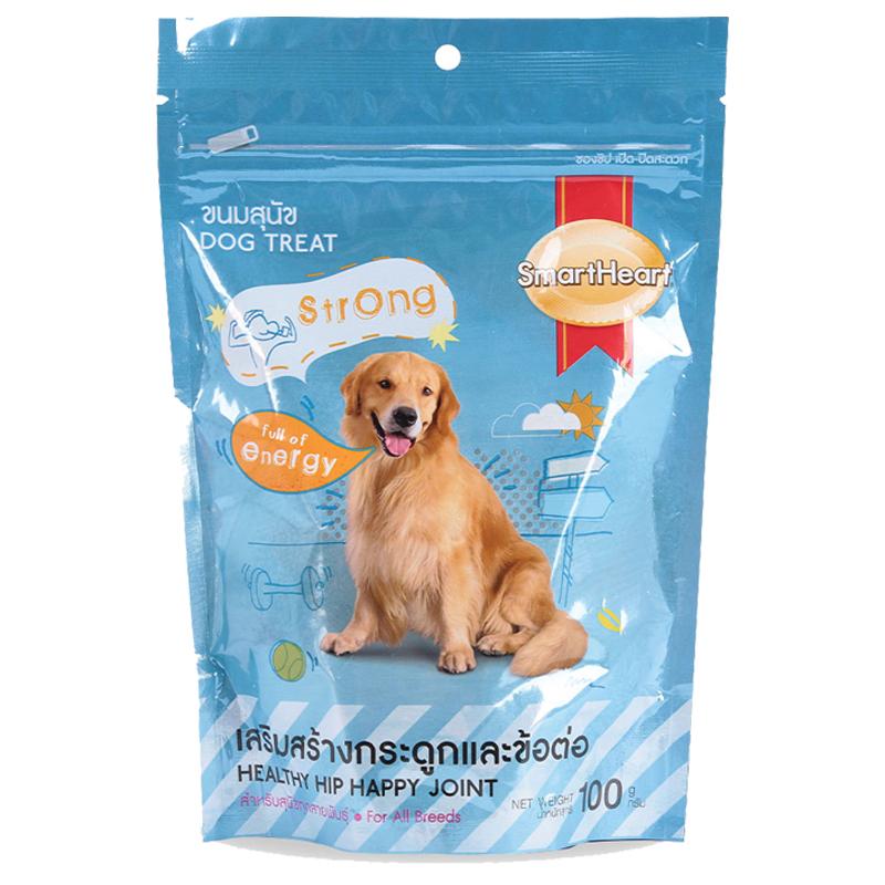Bánh thưởng cho chó giúp lông và da khỏe mạnh Smartheart Shiny and Healthy Coat 100g