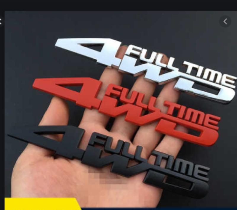 Tem Chữ 4WD 3D Kim Loại Trang Trí Xe Hơi Cực Đẹp