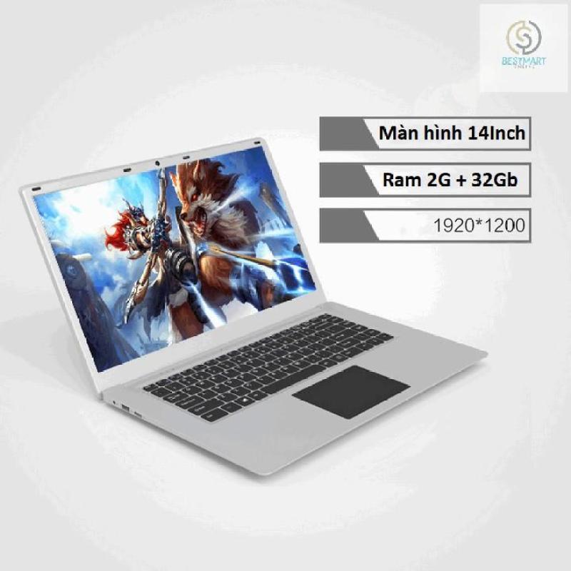 BestMart - Laptop siêu mỏng 14.1inch Intel Atom x5 Ram 2G 32Gb ( Màu Bạc)
