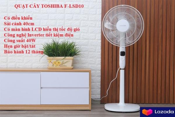 Quạt đứng Toshiba F-LSD10(W)VN có điều khiển