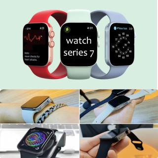 Đồng hồ thông minh, smartwatch mới nhất tốt nhất hiện nay,Đồng Hồ Thông Minh Giá Rẻ, Smartwatch series 7. viền phẳng,Màn Hình Tràn Viền Cực Đẹp , Pin Khủng - Đổi Hình Nền - Chống Nước Chuẩn IP68 . bảo hành 12 tháng thumbnail