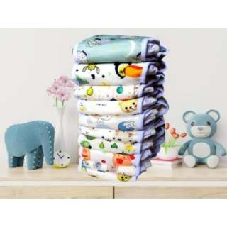 [COMBO] 10 bộ tã vải babu nature chống tràn (gồm 10 QUẦN 20 LÓT) size M 3-12kg, L 9-18kg thumbnail