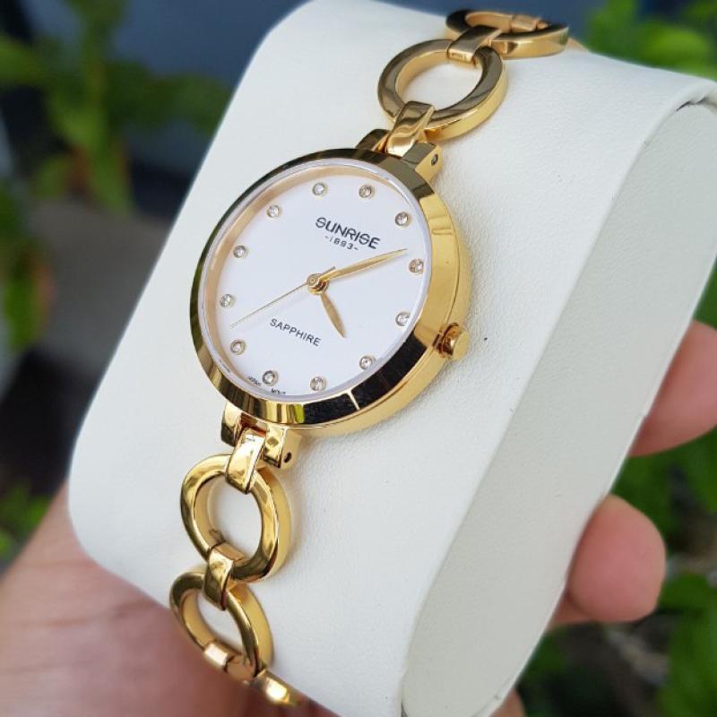 Đồng hồ nữ SUNRISE 9981SA Full hộp, thẻ bảo hành, Kính Sapphire chống xước và nước tốt bán chạy