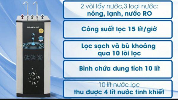 Bảng giá máy lọc nước ro nóng lạnh sunhouse Điện máy Pico