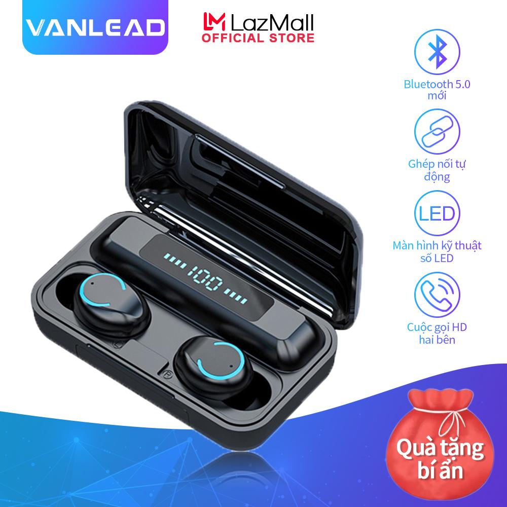 Tai nghe không dây Vanlead kết nối bluetooth 5.0 TWS âm thanh chân thực và nổi có tính năng thể thao/chơi game và điều khiển cảm ứng , kèm hộp sạc màn hình kỹ thuật số - INTL