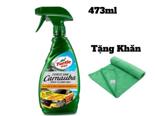 [HCM]Chai xịt bóng nhanh sơn xe Turtle Wax Express Shine 473ml Tặng Khăn