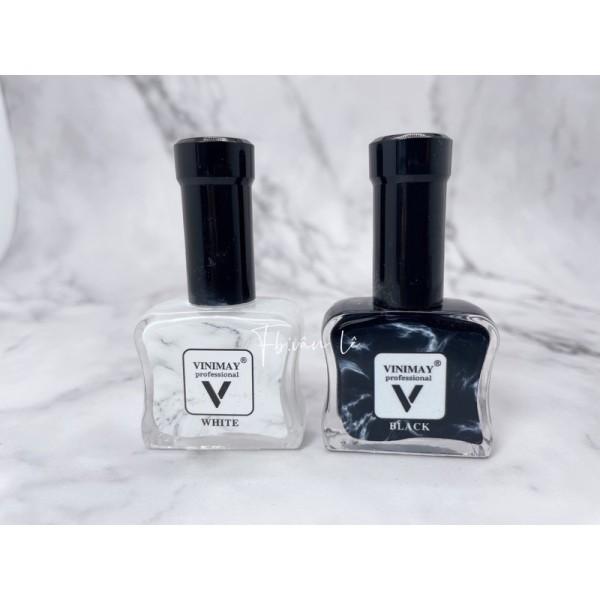 Nail cồn loang trắng - đen Vinimay
