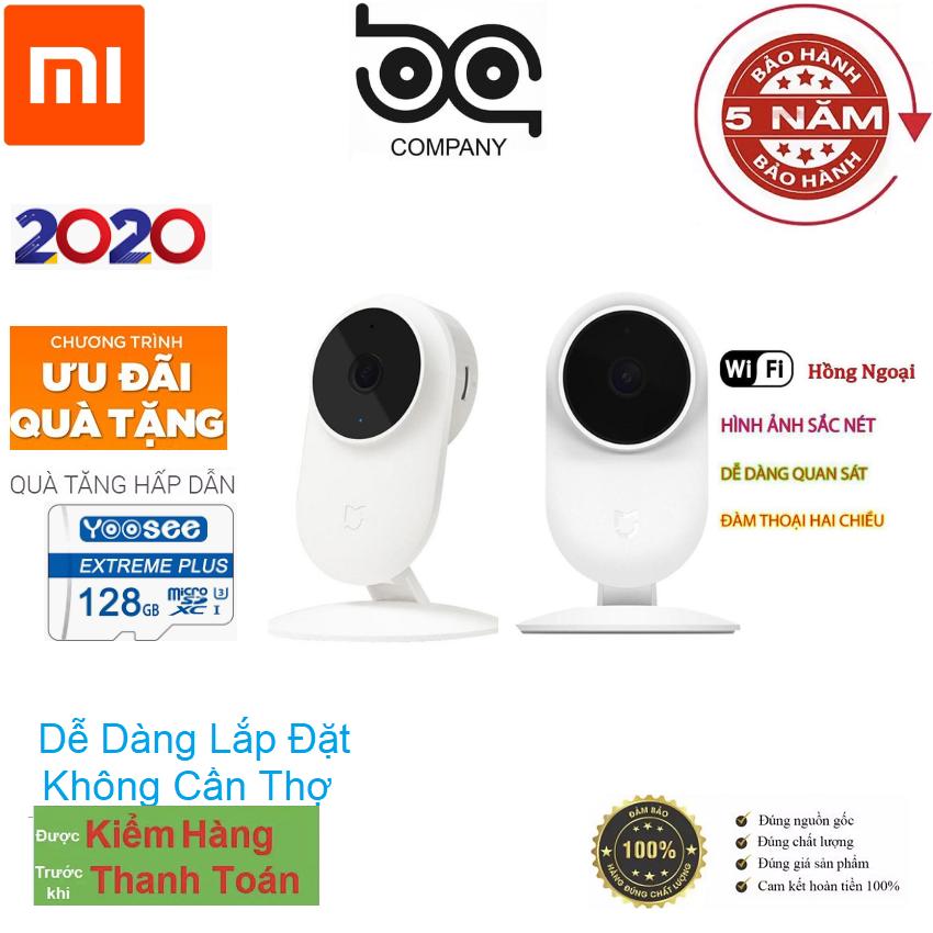 (Tặng Thẻ 128GB Củ Nguồn - Bảo Hành 5 Năm )Camera Wifi xoay 360 độ Xiaomi Mijia 1080p 2019 Quốc tế -BH 5 Năm đổi trả free trong vòng 1 Năm