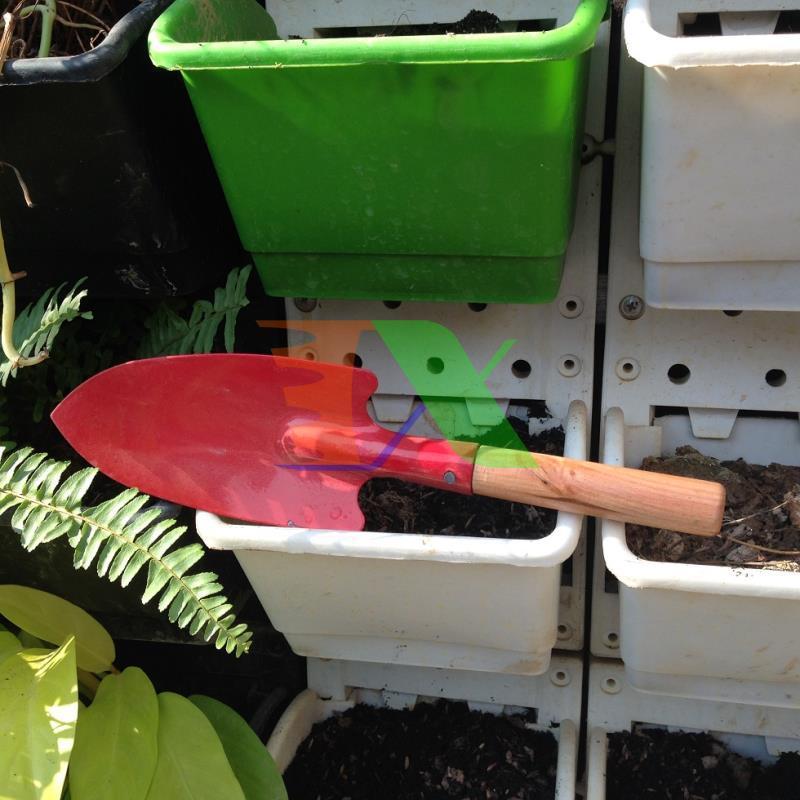 Xẻng làm vườn mini Cán gỗ TXE-04, Xẻng sơn tĩnh điện, Xẻng trồng cây, Xẻng cho bé