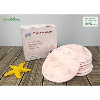 Thấm sữa vải Goodmama Miếng lót thấm sữa bằng vải, tiết kiệm,tái sử dụng, giặt được good mama hộp 8 miếng thumbnail