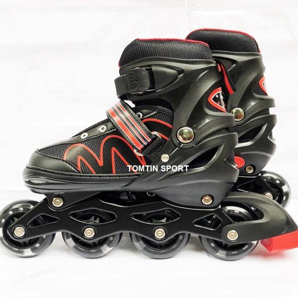 Mua [MẪU MỚI] Giày trượt patin có đèn led tặng kèm bảo hộ chân tay cho trẻ em và thiếu niên từ 3-12 tuổi