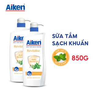 Aiken Combo 2 Sữa tắm Sạch khuẩn Chiết Xuất Bạc Hà 850g chai thumbnail