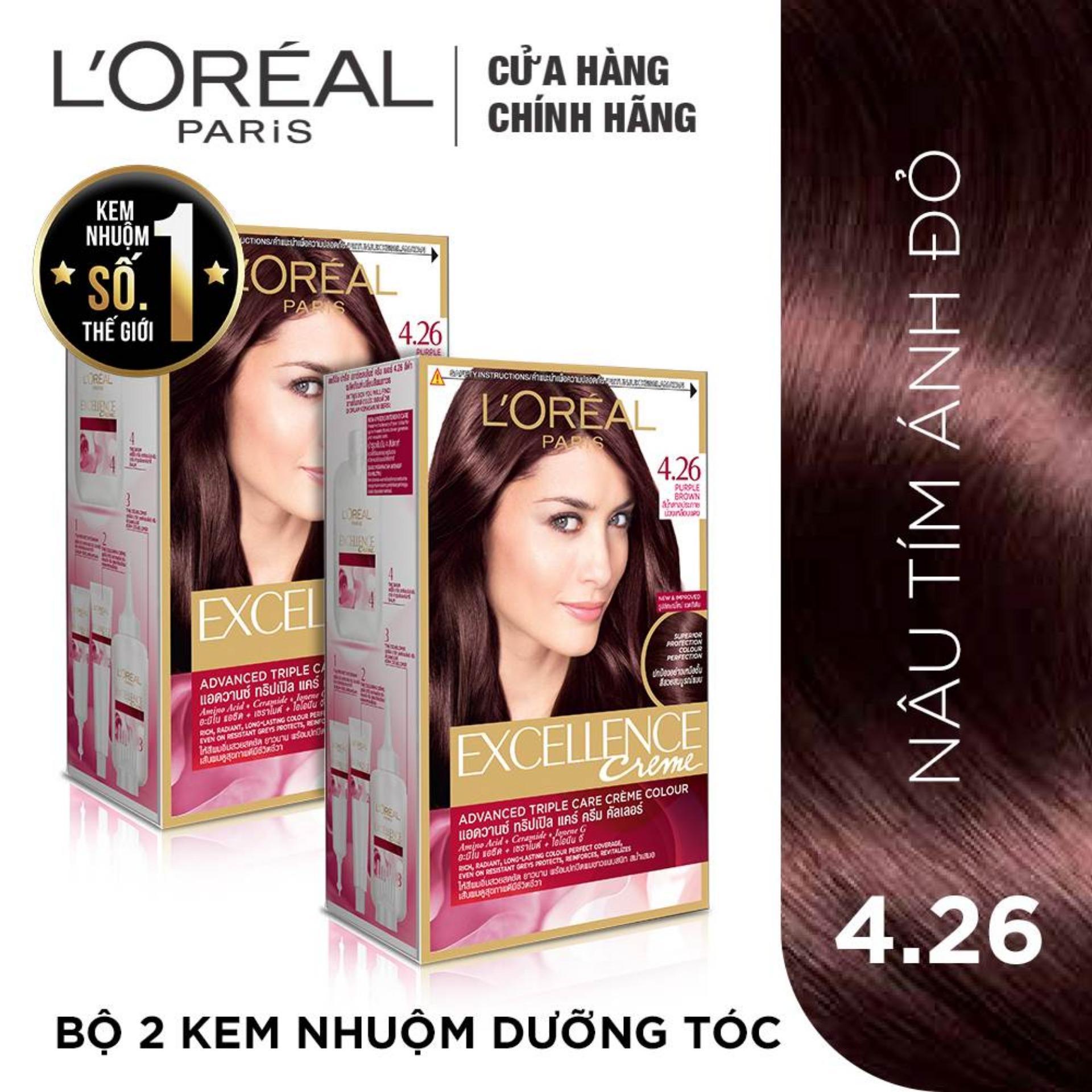 Bộ 2 kem nhuộm dưỡng tóc LOreal Paris Excellence Fashion 172mlx2