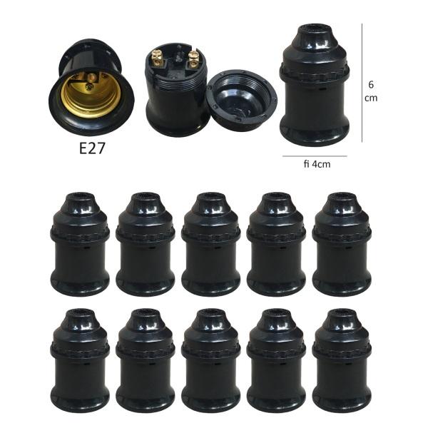 Bảng giá Sỉ 100 Đui đèn E27 đuôi xoáy 27mm treo thả thông dụng LH-Hx