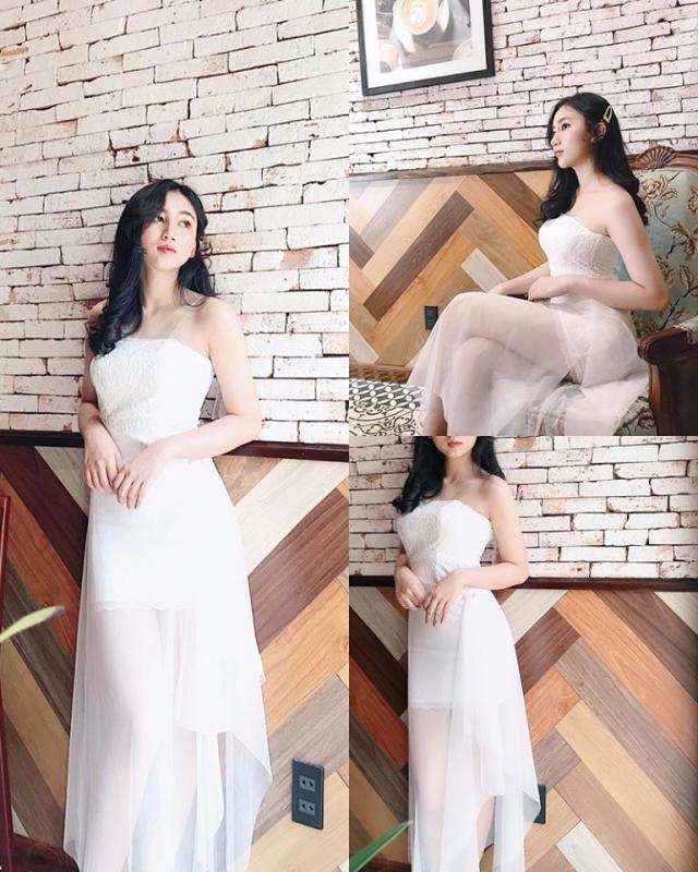 Nơi bán [HÌNH THẬT] Đầm Wedding Dress Kèm Châm Áo Chất liệu Ren phối lưới Cực Đẹp 2019