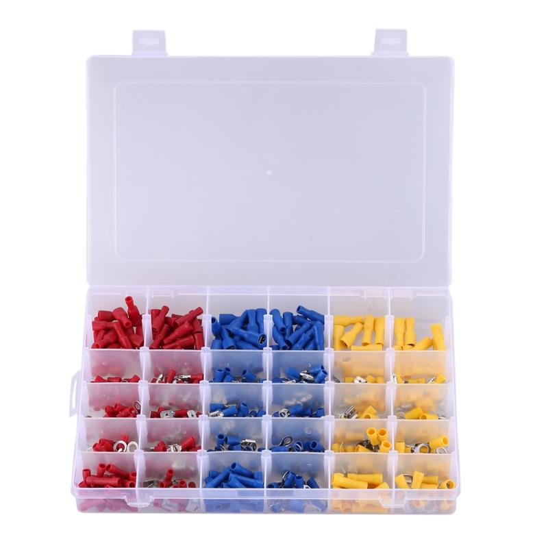 1000Pcs Assorted Car Electrical Wire Terminals Insulated Crimp Connectors Box Kit