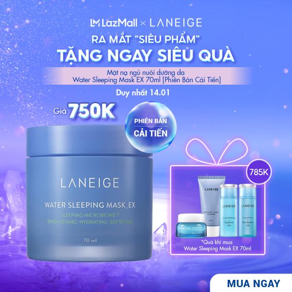 Mặt nạ ngủ dưỡng ẩm và tăng khả năng tự-vệ của da da phiên bản cải tiến LANEIGE Water Sleeping Mask EX 70ml giá rẻ