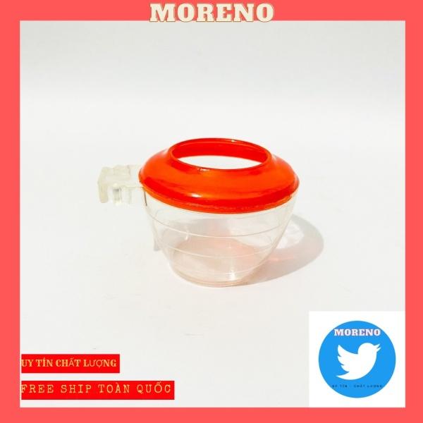 Cóng ăn đỏ MORENO cho chim chất liệu nhựa mica giá rẻ siêu đẹp (1 chiếc)
