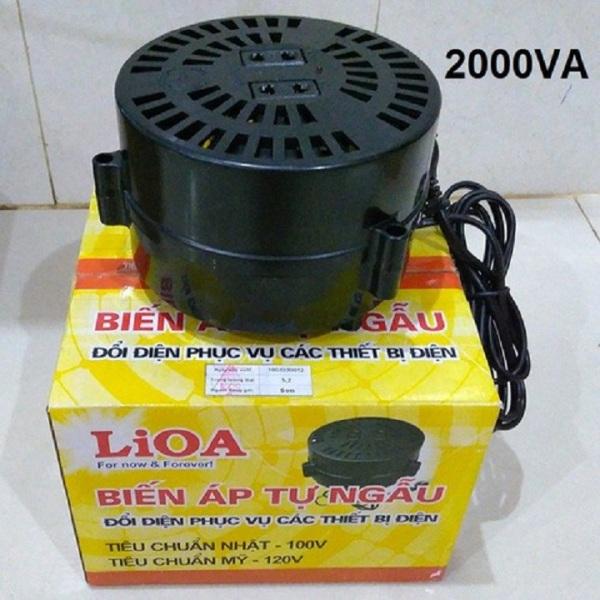 Bảng giá Biến Áp Đổi Nguồn LIOA 2000VA. Đổi Điện 220v Sang 100v,  DN020