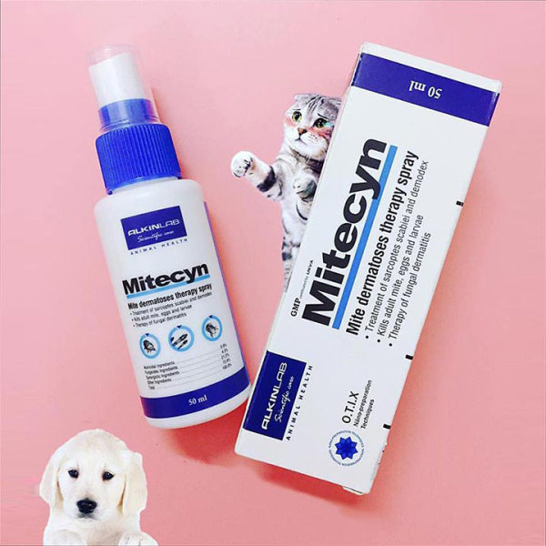 Trị ghẻ nấm Mitecyn 50ml cho chó mèo