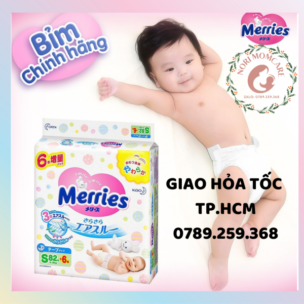 [Giao hỏa tốc HCM] Bỉm/tã Merries dán/quần siêu cộng miếng chính hãng nội địa Nhật Bản đủ size Newborn NB/S/M/L/XL/XXL