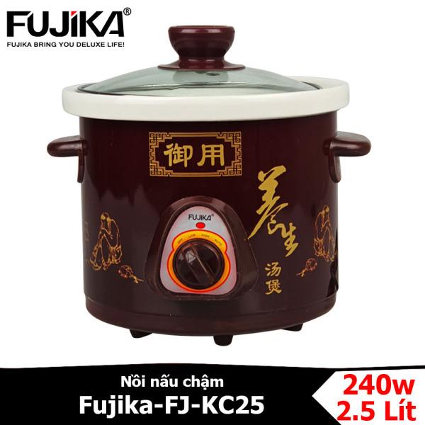 NỒI NẤU CHẬM FUJIKA FJ-KC25 dung tích 2.5 lít dùng nấu cháo cho bé, kho cá, kho thịt, chưng yến, hầm thức ăn