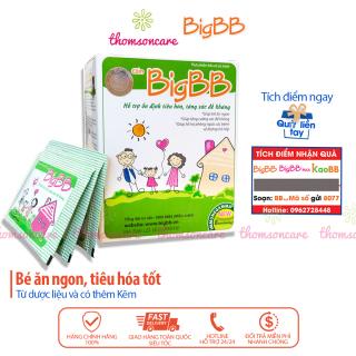 Cốm giảm ho BigBB Plus xanh 12 gói giảm các bệnh tiêu hóa tăng cường hấp thụ các chất cho trẻ lười ăn biếng ăn tieu hóa kém đi phân lỏng phân sống lợi khuẩn kích thích tiêu hóa cho trẻ em 1 2 3 tuổi giúp trẻ ăn ngon nhanh lớn thumbnail
