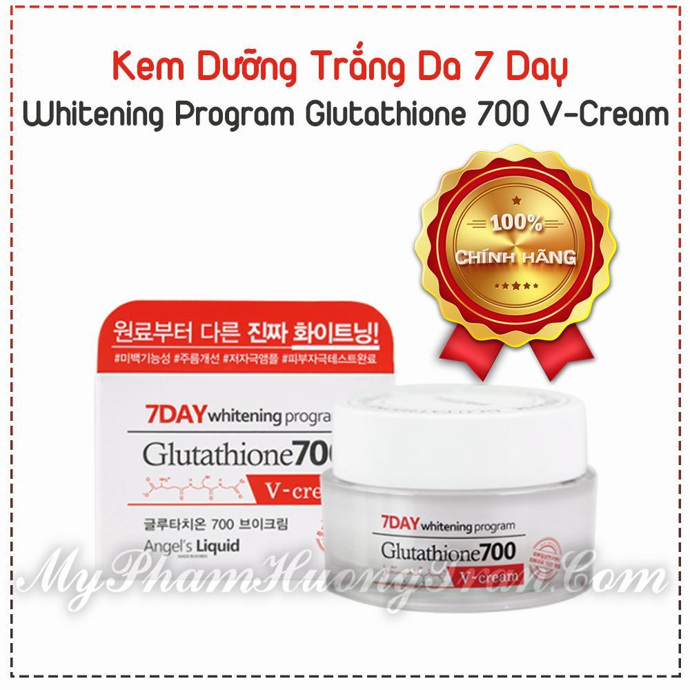 Kem Dưỡng Trắng Da 7 Day Whitening Program Glutathione 700 V-Cream (50ml)