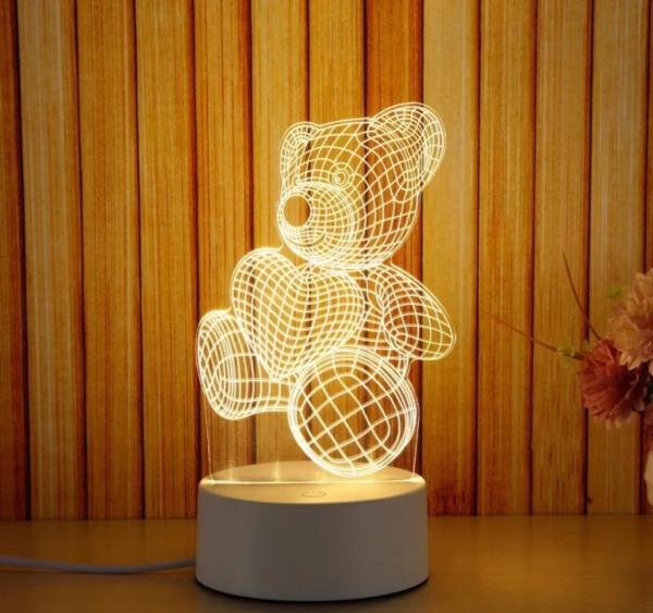 Tâm House Đèn ngủ trang trí LED 3D - D003