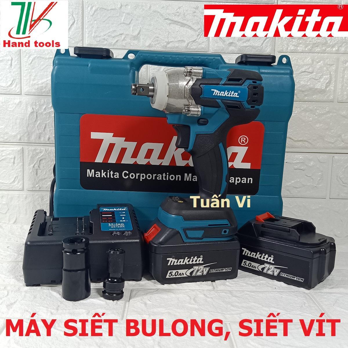 Máy Vặn Bulong + Bắt Vít Chuyên Dụng Makita DTW 285 Pin 72V-5.0Ah