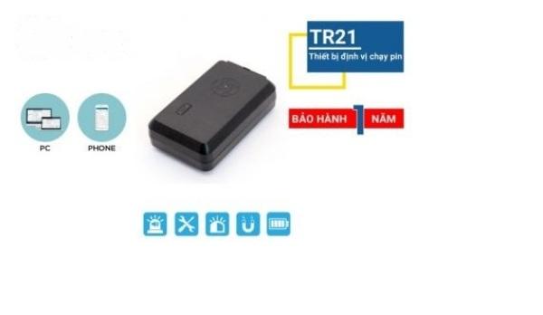 Thiết bị định vị Ô tô, xe máy dùng pin không dây TR21 pin 10 đến 15 ngày bảo hành chính hãng 12 tháng