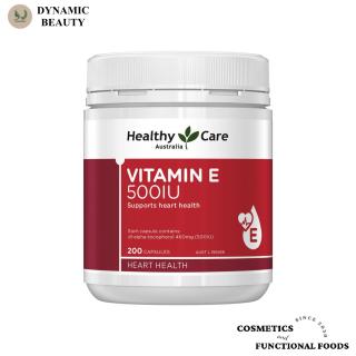 [Hàng chuẩn Úc] Viên uống Healthy Care vitamin E 500iu 200 viên bổ sung vitamin e thumbnail