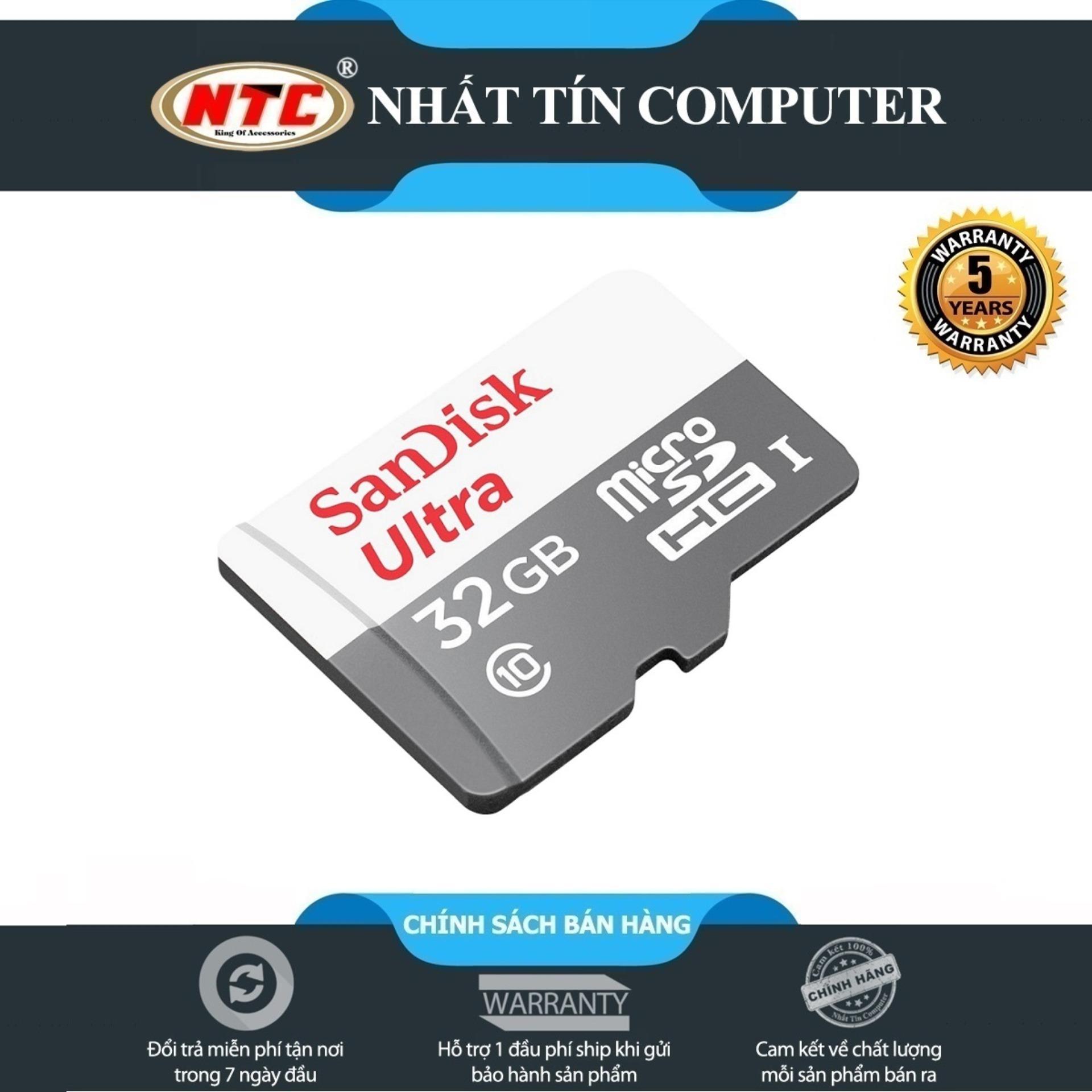 Thẻ nhớ MicroSDHC SanDisk Ultra 533X 32GB 80MB/s - Model 2017 (Trắng bạc)