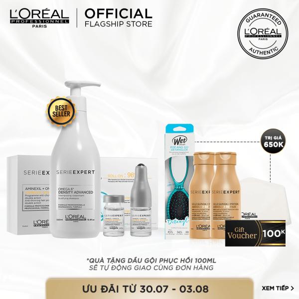 [Tặng lược WetBrush 320K] Liệu trình chăm sóc tóc mỏng và ngừa rụng tóc LOréal Professionnel giá rẻ