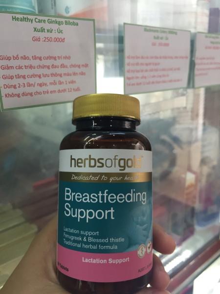 Herbs Of Gold Breastfeeding Support - Viên Uống Lợi Sữa Của Úc, Mẫu mới