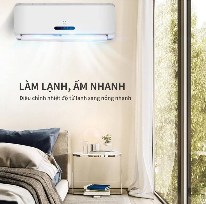 Điều hòa treo tường - Điện năng tiêu thụ  lạnh/nóng 775W/850W.Hàng nội địa Trung thương hiệu DongBao. Hàng đặt trong vòng 7 ngày có hàng