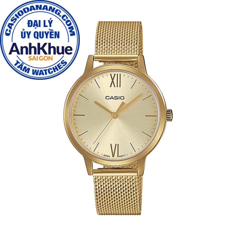 Đồng hồ nữ dây thép không gỉ Casio Standard Anh Khuê LTP-E157MG-9ADF
