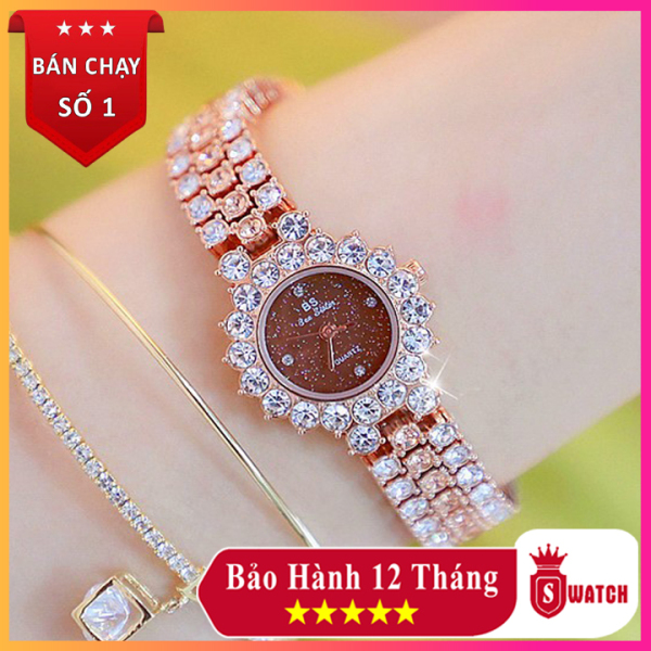 Nơi bán Đồng hồ nữ Bs Bee Sister ♥️FreeShip♥️ Viền đính đá sang trọng, Kiểu dáng Hàn Quốc, lên tay cực đẹp ♥️ Tặng vòng tay