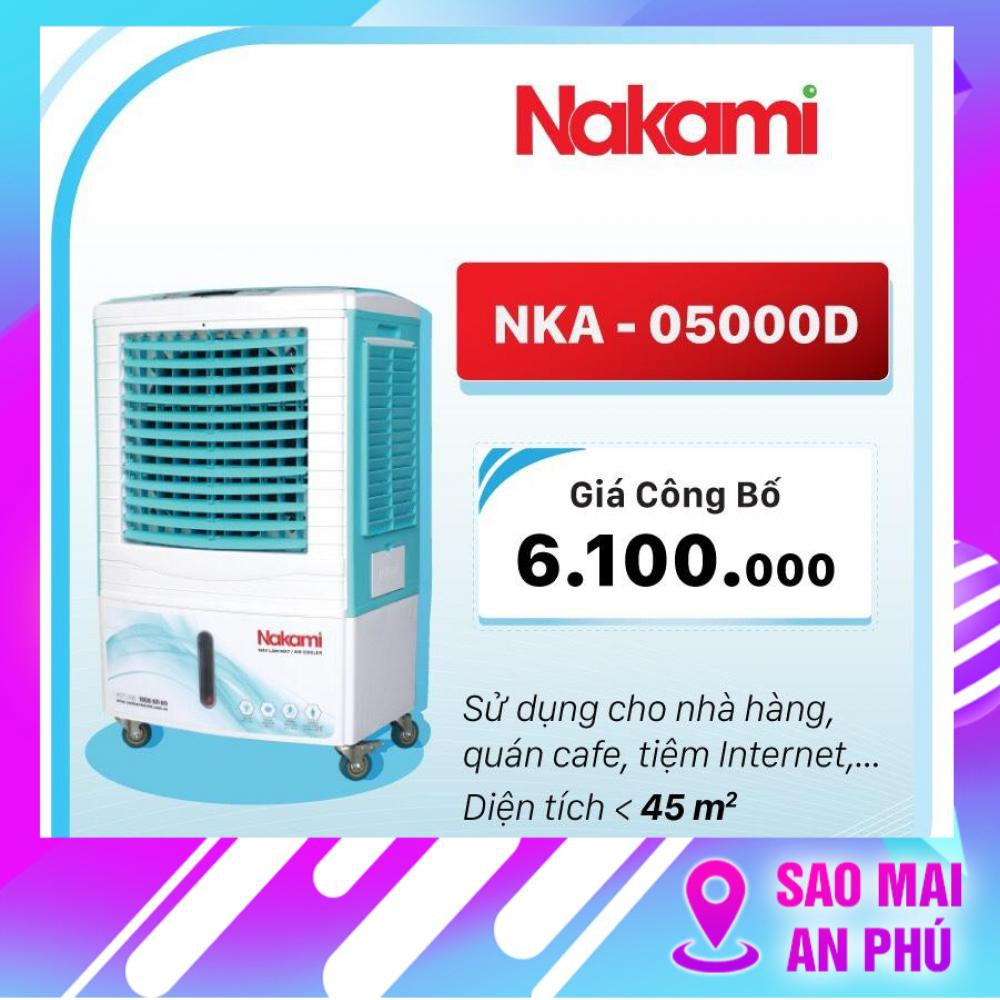 Quạt điều hòa, hơi nước, làm mát không khí NAKAMI NKA-05000D ( có Remote )