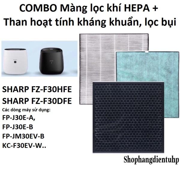 Combo Màng Hepa + than hoạt tính( FZ-F30DFE) Sharp FP-J30E,KC-F30EV-W