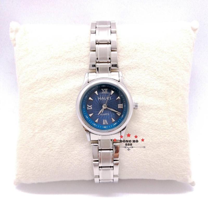 Đồng hồ nữ HALEI dây kim loại thời thượng ( HL489 dây trắng mặt xanh ) - Kính Chống Xước, Chống Nước Tuyệt Đối, Mạ PVD Cao Cấp Chống Gỉ Chống Phai Màu Thời Trang Hottrend 2020