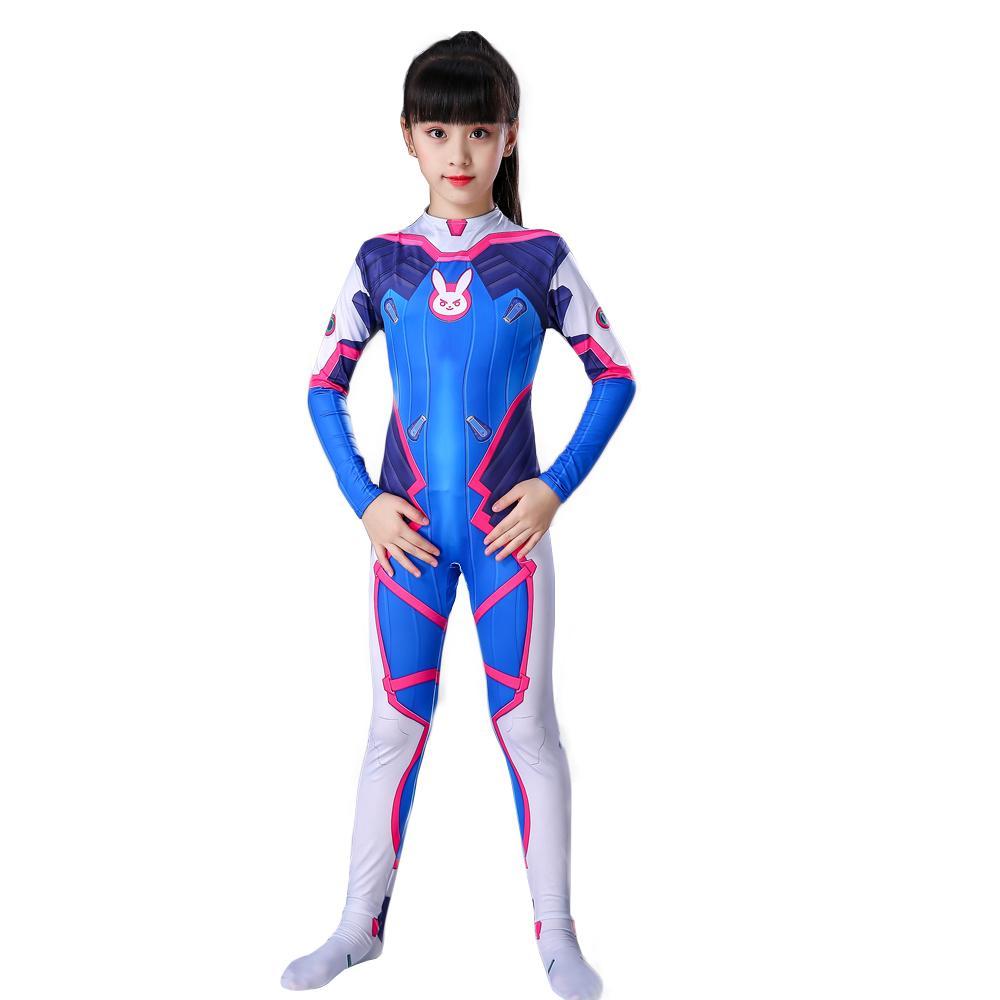 Giá bán Trang phục cho bé gái Overwatch, bộ quần áo siêu nhân cho bé gái