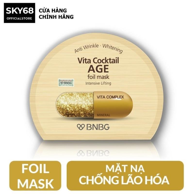 Mặt nạ dưỡng da giúp nâng cơ, chống lão hóa BNBG Vita Cocktail Age Foil Mask - Intensive Lifting 30ml nhập khẩu