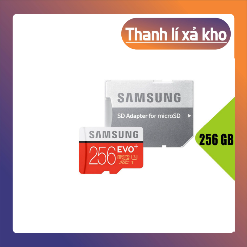 [Giá Sốc] Thẻ nhớ MicroSDXC Samsung Evo Plus 256GB U3 4K R100MB/s W90MB/s - Box Anh Thẻ nhớ cho camera wifi, camera hành trình, điện thoại, máy chơi game, chất lượng hình ảnh 4k - Hàng Chính Hãng