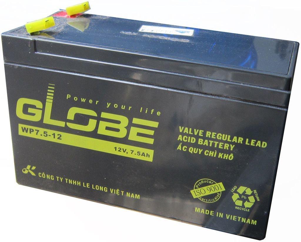 Bình Ắc Quy Khô cho lưu điện GLOBE WP7.5-12 ( 12V - 7.5 AH ) - Ắc quy cho lưu điện UPS.